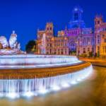 madrid - night - cibeles - fontana