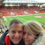 liverpool - anfield - selfie