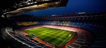 fc barcelona - stadion - at night